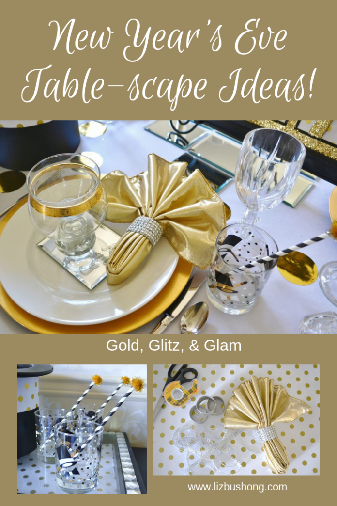 New Year's Eve Table scape Ideas- lizbushong.com