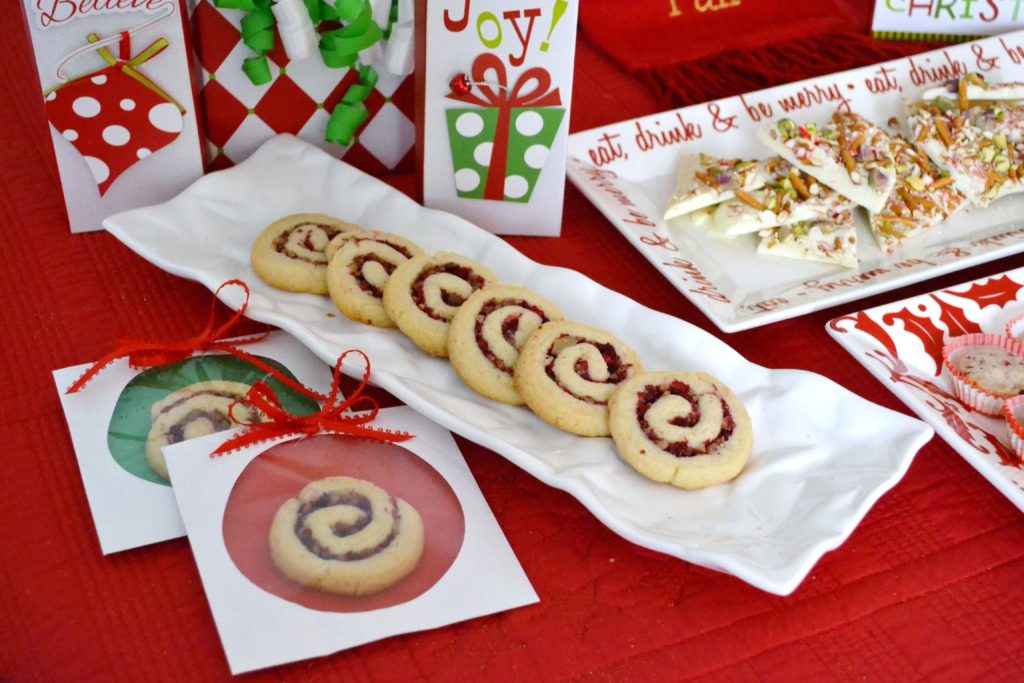 cranberry pinwheels on table